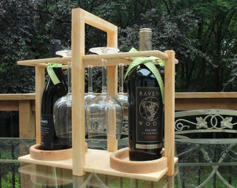 Wine Stem and Bottle Caddy