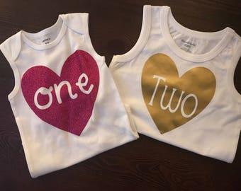 Milestone Onesies or Shirts