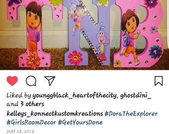 Kustom Made Dora Letters