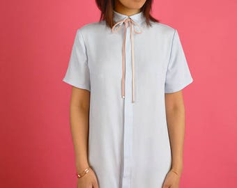 Pastel Shirt Dress // Japanese Korean Summer Fashion