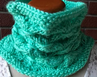 Lattice knit cowl