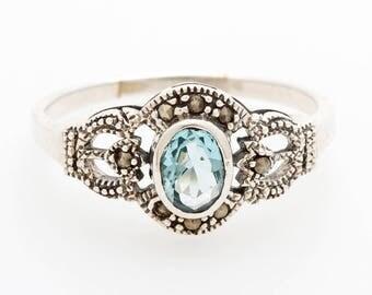 Silver women's ring
