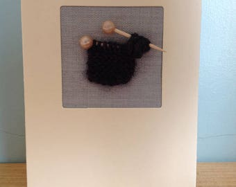 Handmade knitted cards
