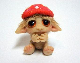 "OOAK Toadstool Gnome Trollfling Troll baby ""Elliott"" by Amber Matthies"