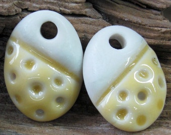 Ceramic Charms, Ceramic Earring Components, Yellow Dangles, Ceramic Pendants, Yellow Charms, Yellow Earring Components