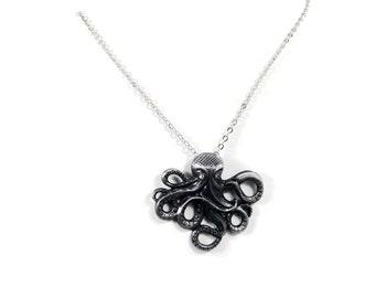 Silver Small Octopus Pendant
