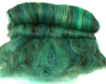 handcarded batts spinning fiber 3.6 oz, hand carded batt, fibre