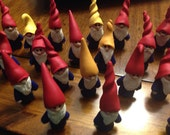 Set of 10 mini garden gnomes RESERVED FOR KATY