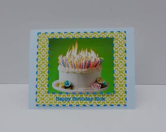 Handmade CUSTOM and Personalized Birthday Note Card Free Shipping