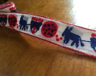 Vintage embroidered donkey wagon trim