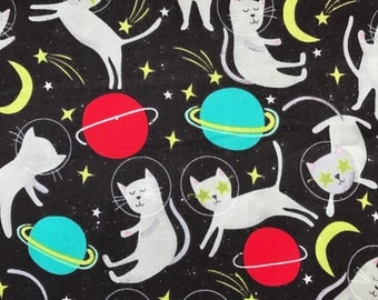 Weighted Blanket - Adult or Child - Cats in Space - Choose your weight (up to 15 lbs) and minky color - custom