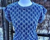 Vintage 70s//80s short sleeve sweater