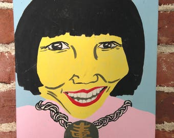 Original Painting Women Authors Amy Tan by Simbach