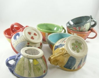 Small Teacups, Ceramic Tea Cups, Colorful Coffee Cups, Small Soup Mugs, Ice Cream Bowl, Punch Cup, Chai Mug, Bright Color Dinner Ware