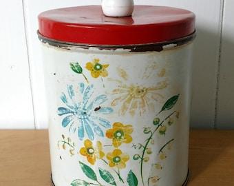 vintage flower canister Colorware