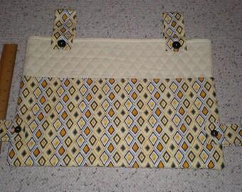 Diamond Print and Cream Solid Walker Bag