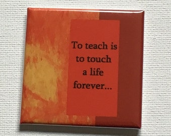 Square Teacher Appreciation Magnet