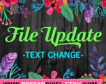File Update - Text Change - Add On