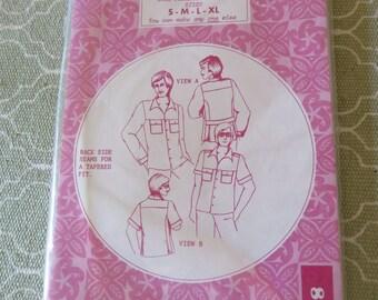 Vintage Pattern Pacifica 8111 Mens Hawaiian Shirt sz s m l xl