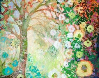 """Modern Tree Abstract - """"My Heart Sings"""" - Fine Art Print by Jenlo"""