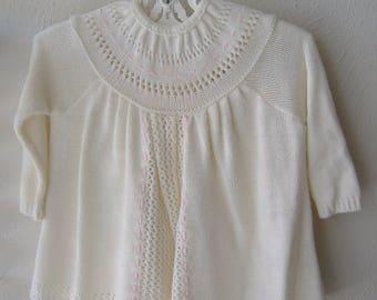 Knit Baby Girl Sweater Dress
