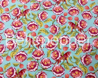 Tula Pink Eden Lotus Tomato Fabric, 1 Yard