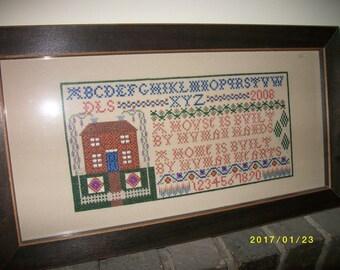 Home & Heart Framed Cross-stitch