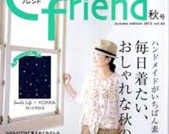 Japanese Craft Magazine Cotton Friend 44
