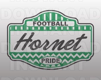 Football Hornet Pride SVG File -Commercial & Personal Use- Vector Art SVG For Cricut,Silhouette ...
