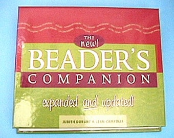 The Beader's Companion Hard Cover Spiral-Bound Book Judith Durant Jean Campbell Beadweaving Beading Stringing Jewelry making techniques