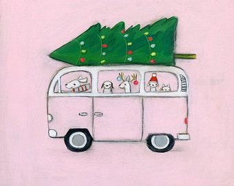pink VW | print