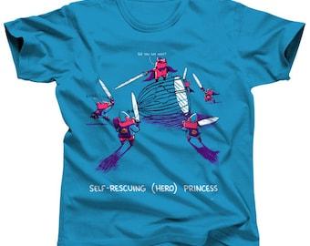 Self-Rescuing (Hero) Princess Tshirt