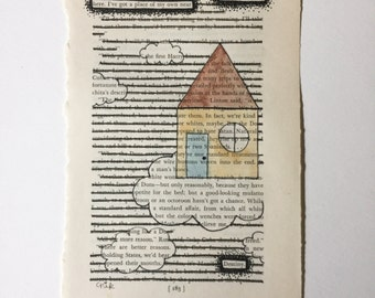 Blackout Poetry (I'm only visiting here) Original Artwork & Poem