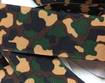 "1.5"" Army Camouflage Ribbon 38mm Camo CLEARANCE Ribbon 5 Yards"