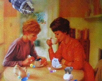 Kitten Pill Party Pt 2-Ladies Having Coffee with Kittens & Pills Collage