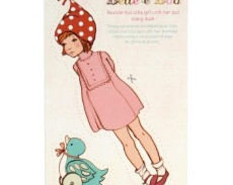 Little Girl Lost Cut Out Postcard, Paper doll, articulated doll