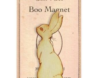 Boo bunny wooden rabbit magnet