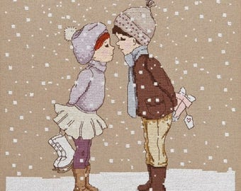 Snowman Cross Stitch Pattern Downloadable PDF Christmas Belle and Boo