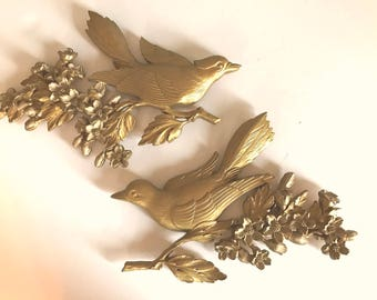 Syroco Bird Plaques 1967 Made in USA