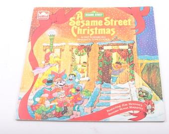 Sesame Street, Christmas, Pat Tornborg, Jim Henson, Vintage, Children's, Book, Holiday ~ The Pink Room ~ 170214