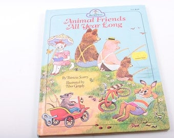 Animal Friends All Year Long, Patricia Scarry, Marigold Press, Short Stories, Illustrated, Vintage, Children's Book ~ The Pink Room ~ 170304