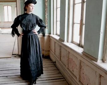 """Victorian Wrap Waist Skirt 24"""""""