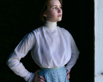 Edwardian White Shirtwaist XS