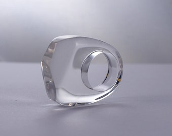 Clear Resin Ring, Resin Jewllery, minimalistic ring, fashion ring