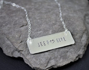 Jeep Girl Bar Necklace