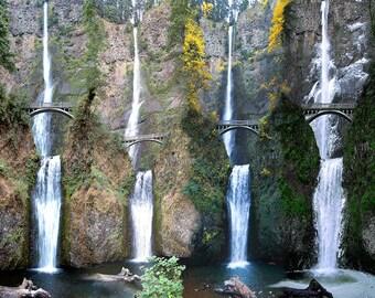 The Four Seasons at Multnomah Falls, OR Digital Painting