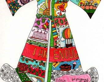 I AM Enough Fairy Dress Print Good Self Esteem