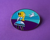 Alice & The White Rabbit Soft Enamel Pin