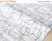 Japanese Fabric Textured Enshuku lawn lines - black, white - 50cm