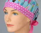 50% OFF CLEARANCE Surgical Scrub Hat or Chemo Cap- The Mini with Ribbon Ties- Lucky Arrows